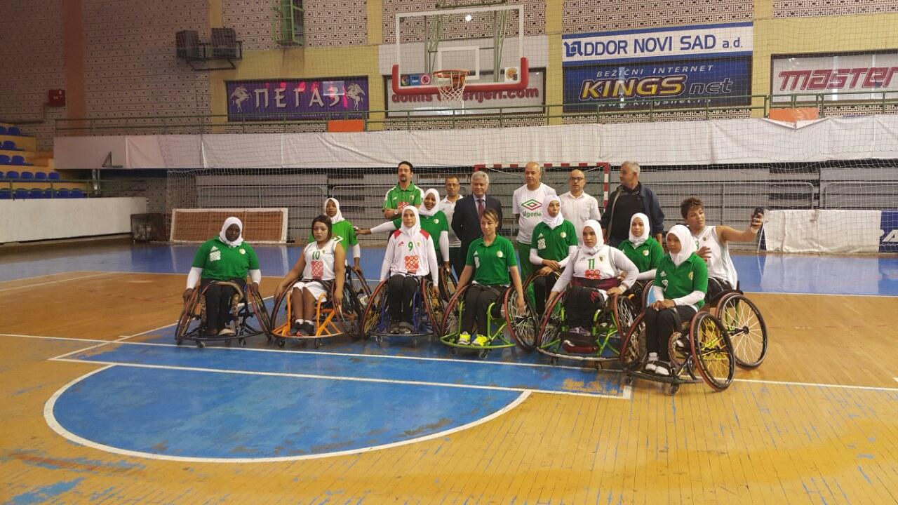 L'Ambassadeur d'Algérie rend visite à la sélection nationale de handi-basket dames