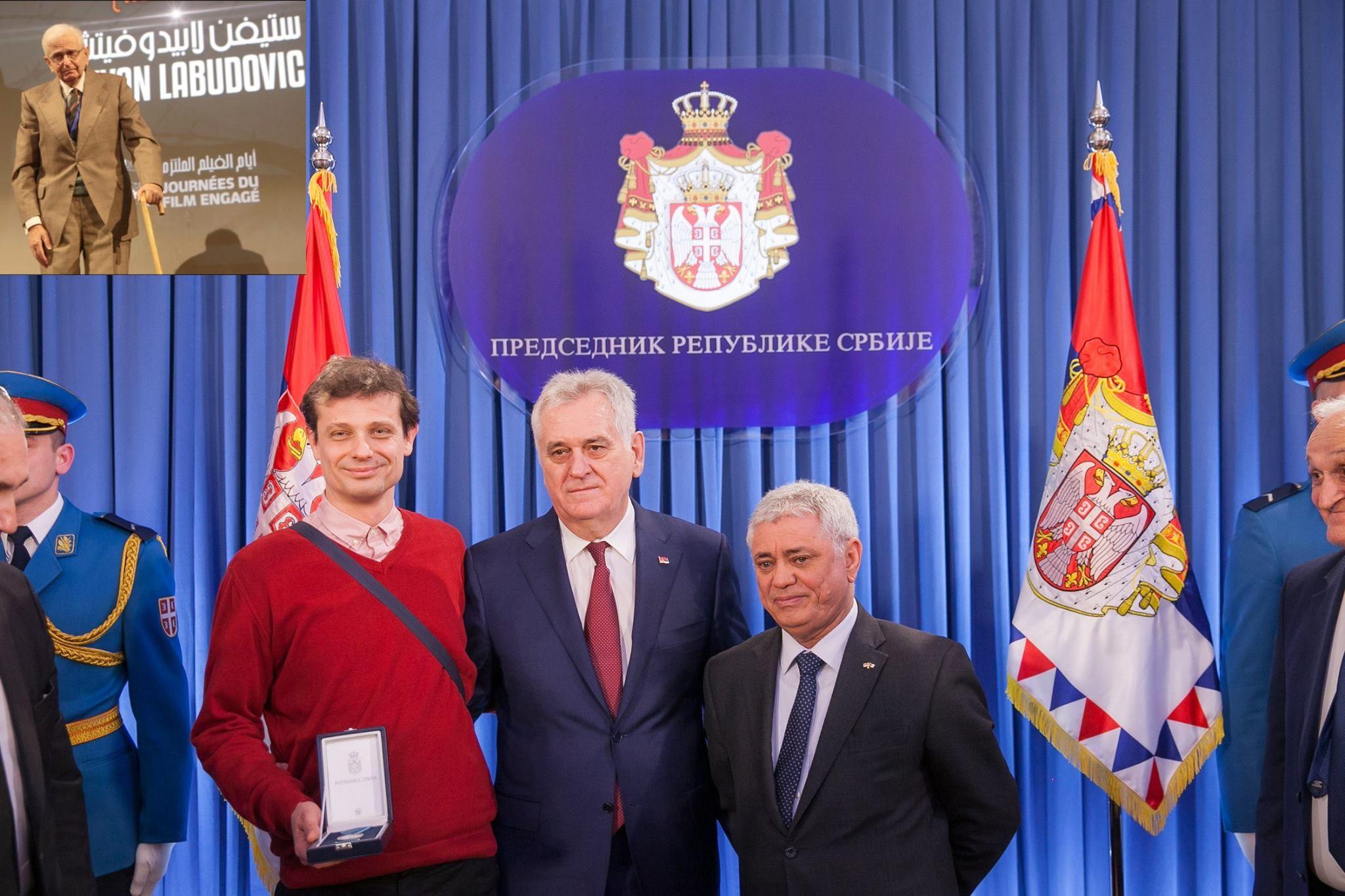 Stevan Labudovic décoré par le Président Tomislav Nikolic