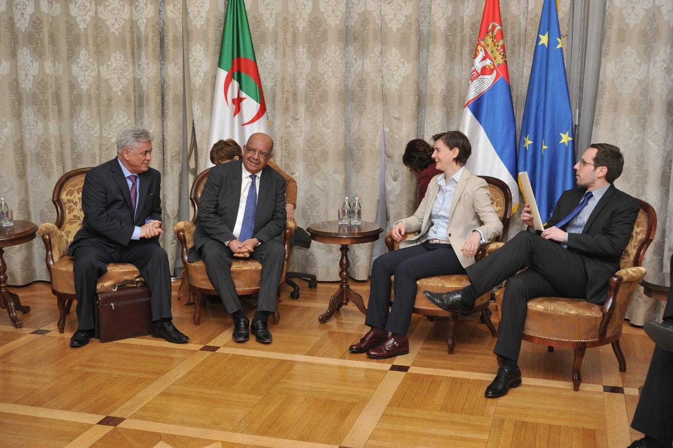 Messahel reçu par Ana Brnabic, Premier ministre